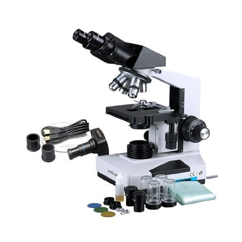 Microscopio binocular