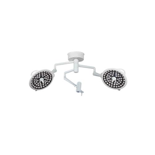 Lampara de quirofano luz led 2 campanas con brazos para monitor y cámara