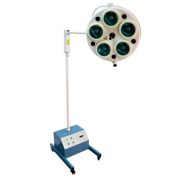 Lámpara de cirugía de 5 focos en pedestal