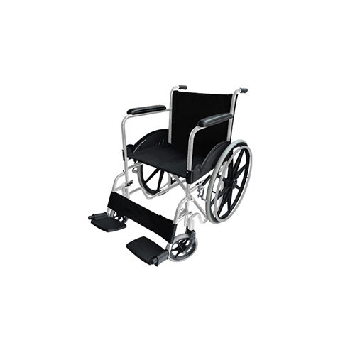 Silla de ruedas con descansa pies